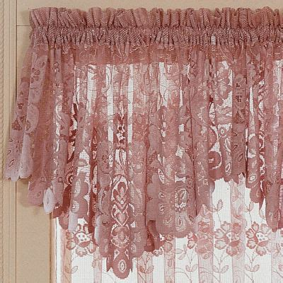 jcpenney curtains and valances jcp home shari lace rod pocket cascade valance
