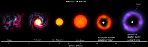 the life cycle of our sun stars mrd classified