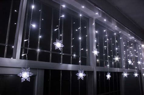 snowflake curtain lights 3 5m 100smd 16p snowflake led curtain string lights l