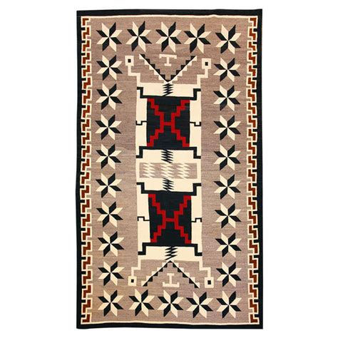 navajo pattern rug with valero at 1stdibs