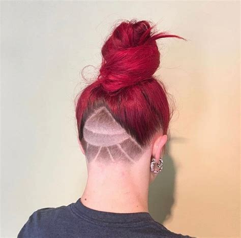 redhair nape shave top 30 trending female undercut hairstyles for any face shape
