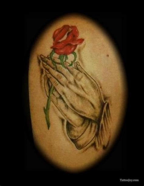 praying hands with roses tattoo praying with tattoos