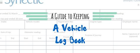 not a novel books keeping a vehicle log book plus your free template