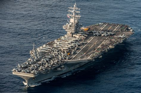 ronald portaerei waters south of japan the aircraft carrier uss ronald