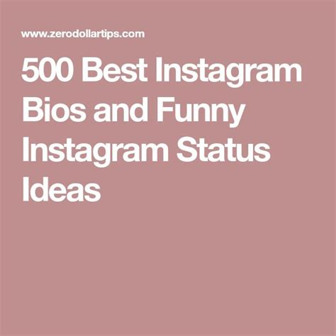 biography status for instagram 500 best instagram bios and funny instagram status ideas