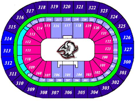 first niagara center formerly hsbc arena seating chart sabres seating chart nhl hockey arenas first niagara