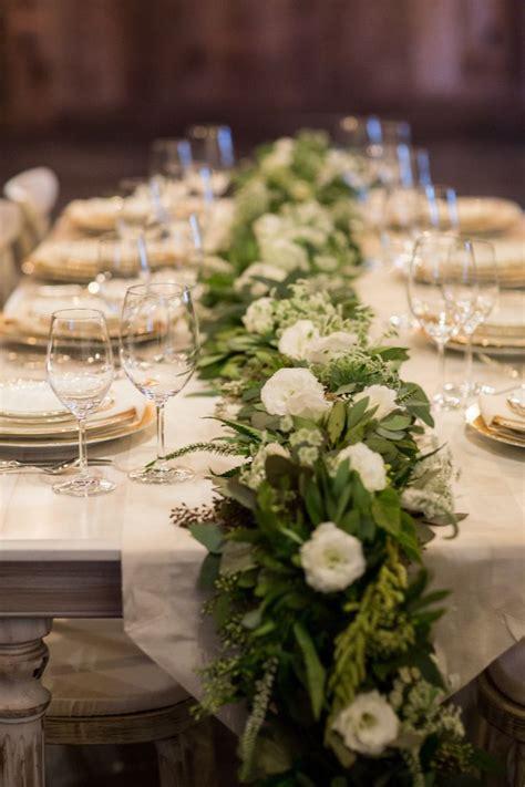 greenery table runner best 25 wedding table garland ideas on