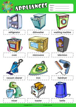 English Word For Bathroom Appliances Esl Printable Worksheets For Kids 1