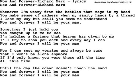 Forever House Lyrics by Song Lyrics For Now And Forever Richard Marx