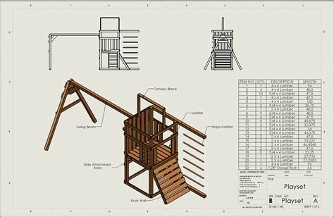 wooden swing set plans download free woodwork free wood playset plans pdf plans