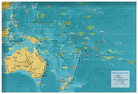 map of oceania countries political map of oceania australia 1800 px nations