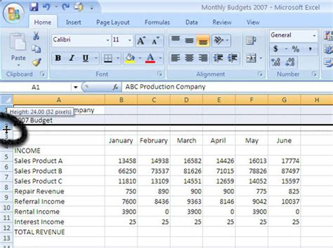 Change Table Width How To Fix Row Height In Excel 2013 Autofit Column Widths And Row Heights In Excelhow To Set