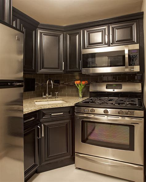houzz backsplash kitchen traditional with dark floor