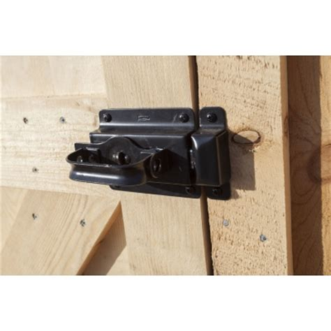 swinging door lock 6 quot black swing door latch