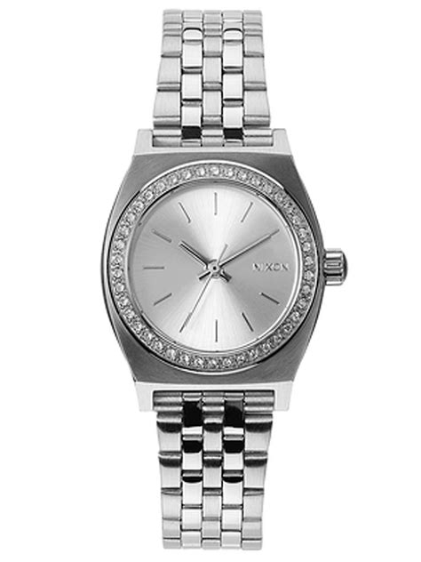 Watch Small Time 2014 Nixon Small Time Teller Watch In Silver All Silver Crystal Lyst