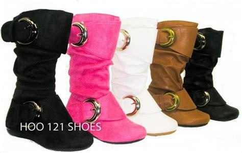 sooo 2 buckle boots flat comfy casual