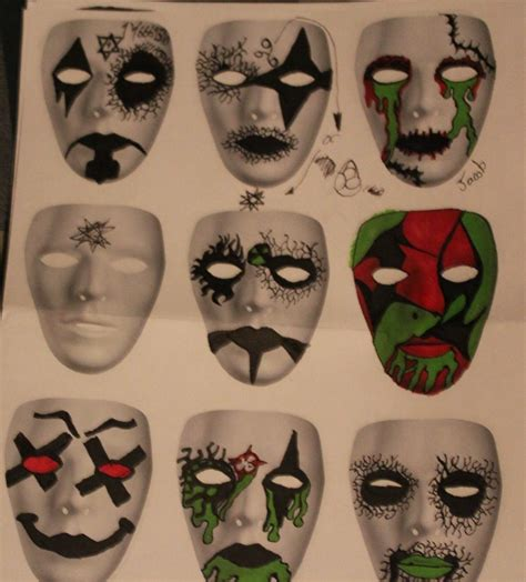 design for mask mask designs three by zombis cannibal on deviantart