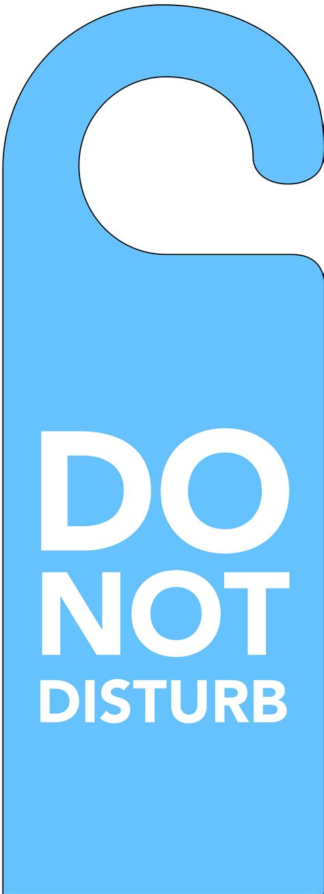 do not disturb sign template blue do not disturb door hanger