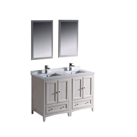 Ceramic Vanity by Fresca Oxford 48 In Vanity In Antique White With