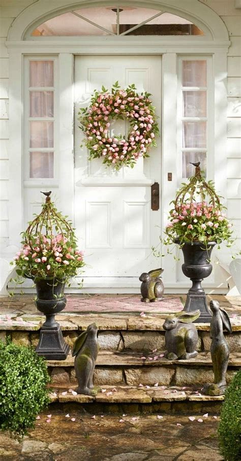 spring decor ideas 45 front easter porch decoration inspirations
