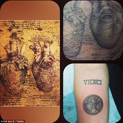 davinci tattoo miley cyrus gets graphic new of da vinci anatomical