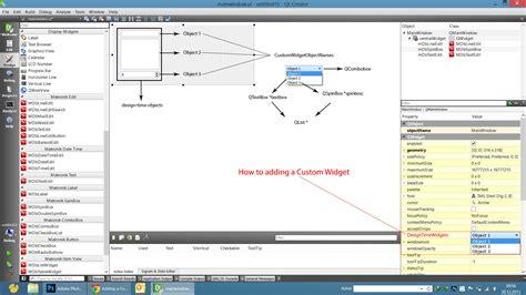 qt designer add layout to widget c adding a custom widget to qt q property or