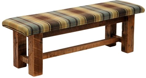 fabric bench seat barnwood upholstered seat 60 quot upgrade fabric bench b16050
