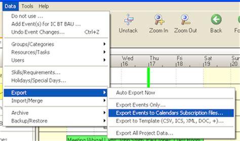 how to make a calendar subscription subscription shared calendar links in the desktop tool