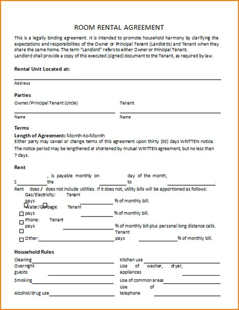 house rental agreement 5 house rental agreement template teknoswitch