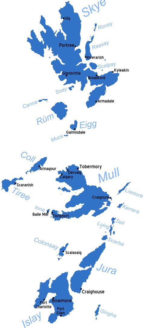 hebrides map inner hebrides travel guide at wikivoyage