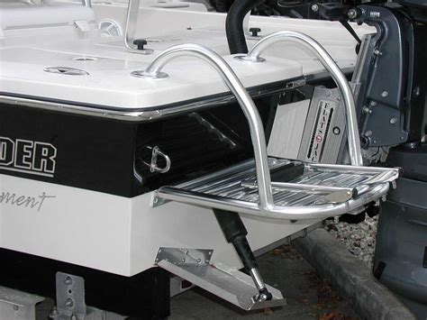 boat ladder with trim tabs custom dive swim platforms by action welding cape coral