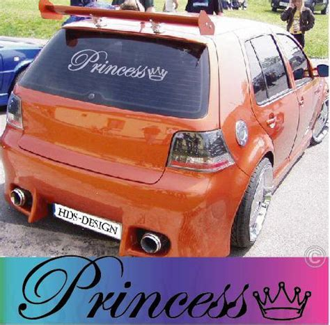 Aufkleber Auto Frauen by Princess Prinzessin Frau Autoaufkleber Auto Aufkleber