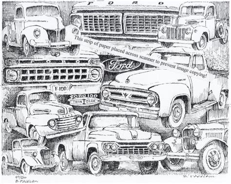 retro lives greyscale coloring book books vintage ford truck collage signed print