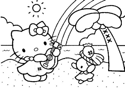 hello kitty coloring pages free printable pictures