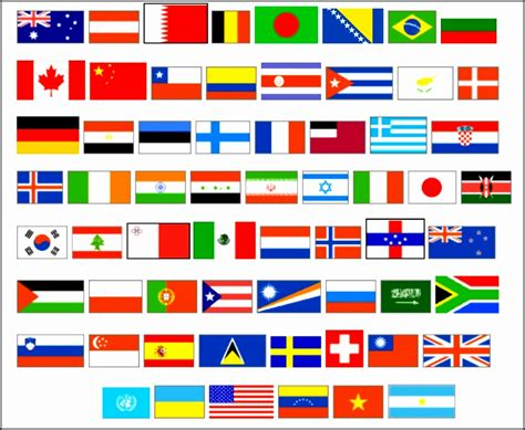 world flag templates world flags with names printable fqxht best of of