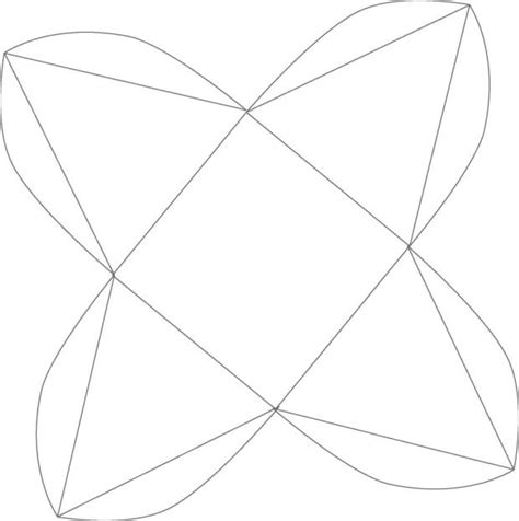 Moldes De Cajas De Regalo Triangulares Para Imprimir | moldes de cajas triangulares imagui