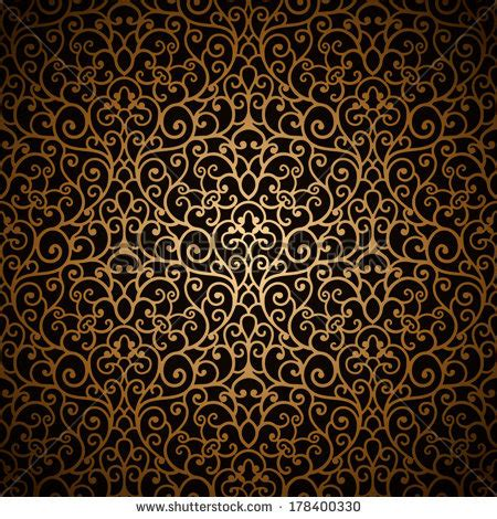 gold vintage pattern dark vintage seamless stock photos images pictures