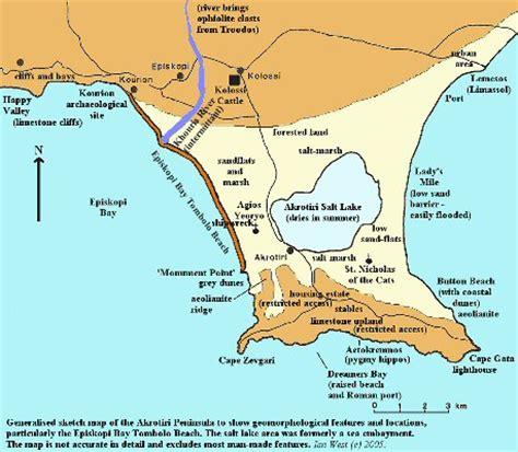 diagram of a tombolo map uk beaches