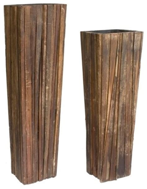 indoor wood planter ferpas reclaimed wood planter set contemporary indoor