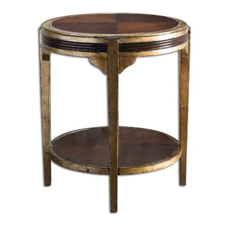 Uttermost Furniture Tasi Furniture Accent Two Tone Table Lower Shelf