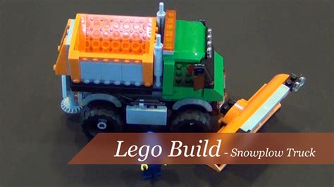 Lego City Snowplow Truck 60083 lego city snowplow truck set 60083 unboxing and build