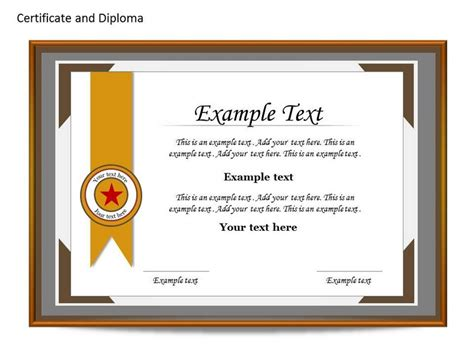 Powerpoint Certificate Template Free certificat and diploma chart powerpoint templates and backgrounds