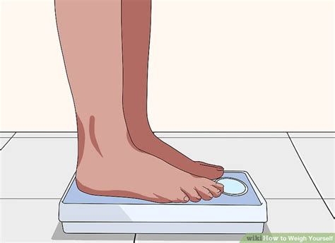 weigh   steps  pictures wikihow