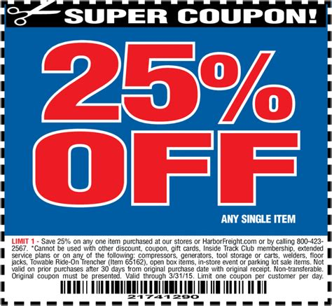 harbor freight coupons 20 off printable harbor freight 20 off coupon 2016 printable release date