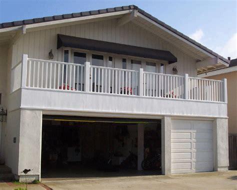 Garage Deck by Deck Garage Handrail