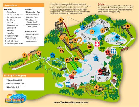 map of us water parks park info the waterpark ohio