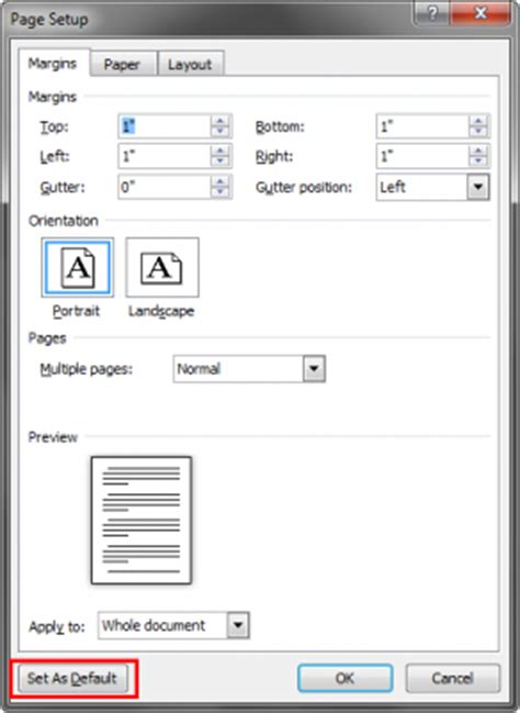 word layout default how to change default font and document settings in
