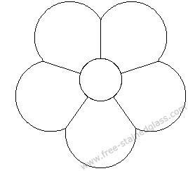 coloring pages flower petals petal flower coloring page http www free stainedglass