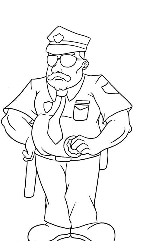 policeman hat coloring page free coloring pages of hat policeman