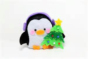 patterns felt penguin christmas ornament by typingwithtea